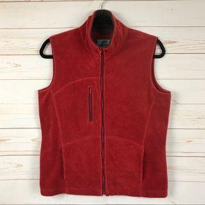 Horny Toad Full Zip Fleece Vest Red Medium